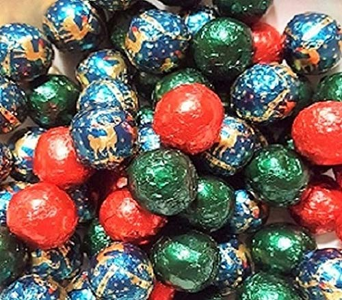 Thompson Dark Chocolate Christmas Balls Mix, 1 Lb-Approx 72 Pcs made in New England