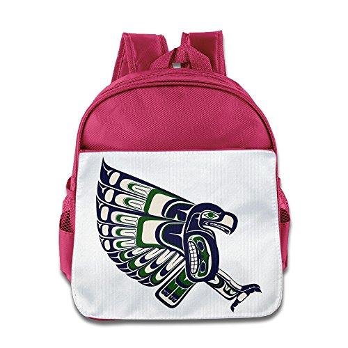Huma Football Seattles Seahawk Children School Bookbag Backpack (Ugg Dog Bag)