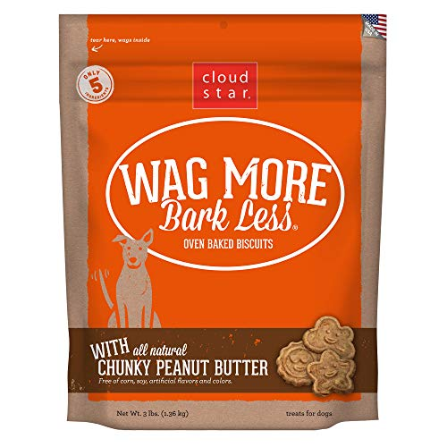 Bones Oven Baked Treats - Cloud Star Wag More Bark Less Oven Baked, Crunchy Dog Treats, Limited Ingredients & Baked in the USA