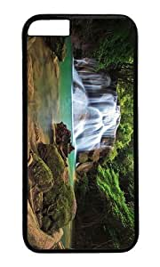 Adorable forest waterfalls Hard Case Protective Shell Cell Phone Cover For Apple Iphone 6 Plus (5.5 Inch) - PC Black