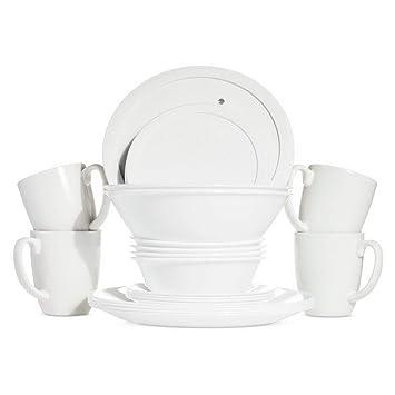 Amazon.com: Juego de vajilla 24 unidades. Juego de platos ...