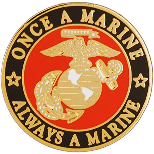 USMC Once A Marine Always A Marine Pin Military Collectibles for Men Women