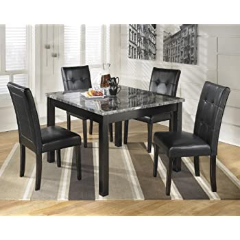 Ashley D  Maysville Black Square Dining Room Table Set