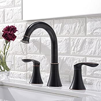Friho Lead Free Commercial Two Handle Three Hole Oil Rubbed Bronze Bathroom  Vanity Sink Faucets Bathroom Faucet