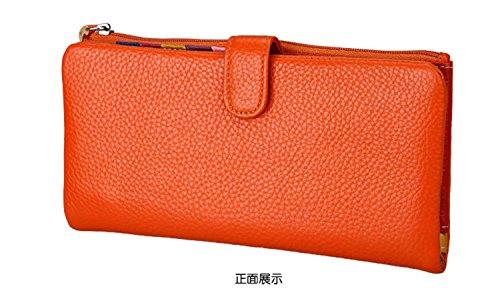 Damen Leder Geldbörsen Taschen Damen Portemonnaie Damen Geldbeutel Damenhandtasche,Brieftasche Kreditkartenetui Wallet,RFID-Diebstahlschutzmappe. Abschirmmaterial auswählen B