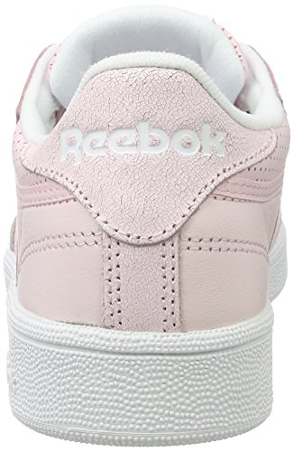 Porcelain Reebok Silver Pink White Gymnastikschuhe Damen Club C Pink Grey Fbt Skull Met 85 x6w6r0fvq