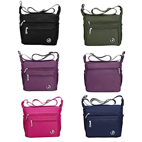 Women Navy Nylon Handbags Bag Fabuxry Purses Cross Shoulder Casual Body Blue Bags Bags Messenger for wtHTqO