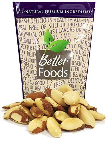 Raw Brazil Nuts 24 oz 1.5 LB (Whole, Unsalted, No Shell, All Natural, Non-GMO, Kosher, In Resealable Bag, Nutrient Dense Low Carb High Fat Snack)