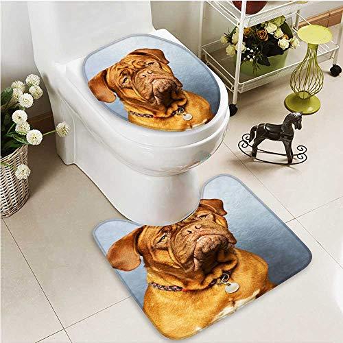 Printsonne 2 Piece Toilet mat set Bordeaux Absorbent ()