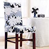 Chair Cover 1 Pc Spandex Elastic Plant Flower Pattern Simple Style Dustproof Stretch Modern Dining Party Seat Cover 5 universal
