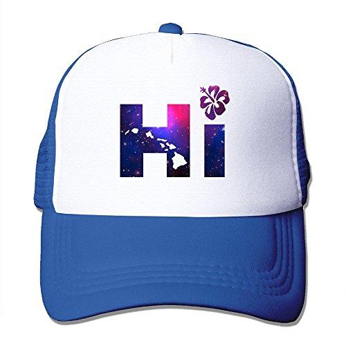 jia3261 Hi Hawaiian Islands Galaxy Trucker Hat Snapback (Male Hawaiian Dancer Costumes)