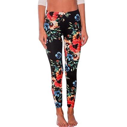 ba599e396802a Litetao Leggings, Women 2017 Fashion Skinny Bohemian Stretchy Gym Running  Yoga Pants (S,