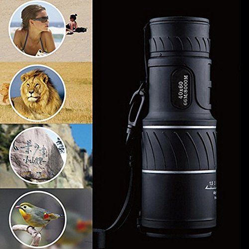 SODIAL High Power 40X60 HD Monocular Telescope Shimmer lll Night Vision Outdoor Hiking Portable Telescope 1500M/9500M
