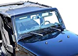 BADASS MOTO Jeep Wrangler JK Mesh Sun Shade Top Cover. Easy To Install. Sunshade Keeps Passengers Cool For Extra Comfort, UV + Wind & Noise Protection. Great Looking Accessories for your Jeep.