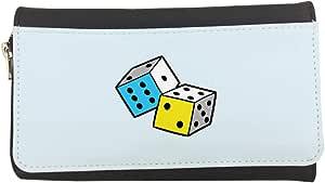 محفظة مصنوعة من الجلد بتصميم زهر طاولة