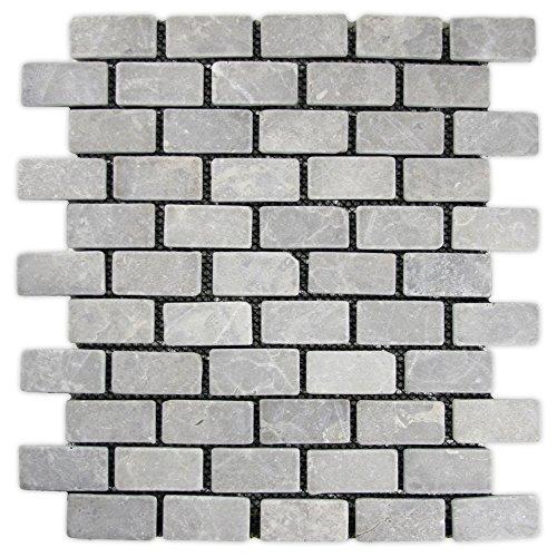- Light Grey Mini Stone Subway Tile 1 sq.ft