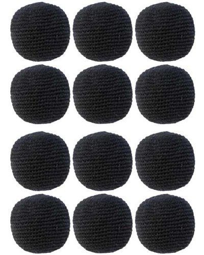 Turtle Island Imports Set of 12 Hacky Sacks - Black by Turtle Island Imports