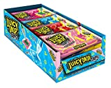 Bazooka New Strawberry Lemonade Juicy Drop Assorted Flavors Chewy Taffy and Sour Gel 2.36 Ounce 16 Pack