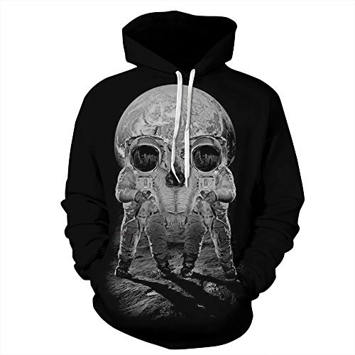 - NEWCOSPLAY Unisex Athletic Hooded Sweatshirts 3D Digital Printed Hoodies Colorful Galaxy Pattern Big Pocket Sweaters (L/XL, Astronaut)
