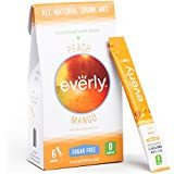 Everly ® Peach Mango (36-ct) - All Natural Energy Drink Mix with Guarana Seed Extract - Sugar Free, Calorie Free & Stevia Sweetened Water Enhancer with No Preservatives