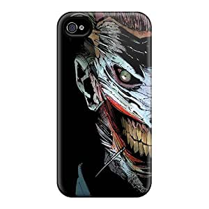 Premium Durable Fantasy Dc Comics The Joker Blackish Tree Comics Fashion Tpu Iphone 4/4s Protective Case Cover