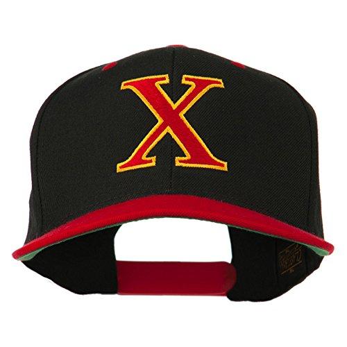 Greek Alphabet CHI Embroidered Cap - Black Red OSFM