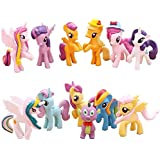 My Little Pony Toys, 12 Pcs Celebration Set Toy, Great for Play or Collecting. (Style A)