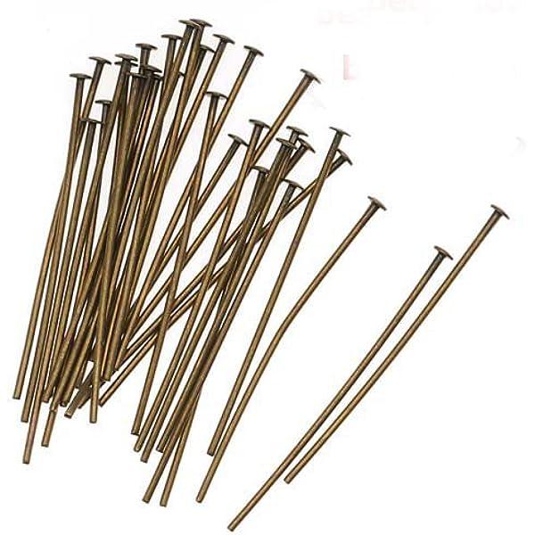 200 BRONZE HEAD PINS 35mm x 0.7mm