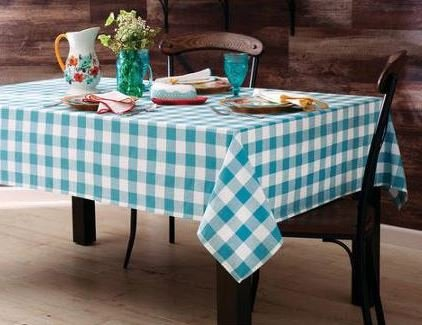 The Pioneer Woman Tablecloth Check Floral Kitchen Linens