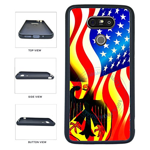 BleuReign(TM) Germany And Usa Mixed Flag TPU RUBBER SILICONE Phone Case Back Cover For LG G5
