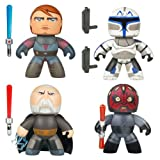 : Darth Maul Count Dooku Captain Rex and Anakin Skywalker Star Wars Mighty Muggs Set