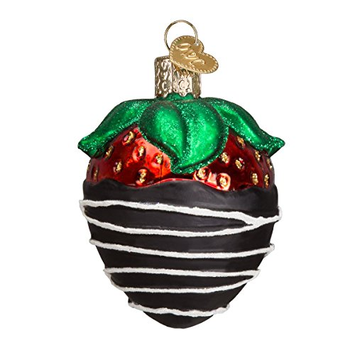 Old World Christmas Glass Blown Ornament with S-Hook and Gift Box, Food Collection (Chocolate Dipped ()