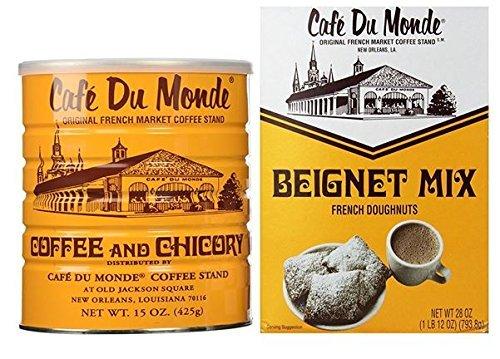 Cafe Du Monde Coffee And Beignet Mix Set – One Can Of Cafe Du Monde Coffee And Chicory And One Box of Beignet Mix