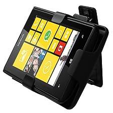 MYBAT Hybrid Holster Combo for Nokia Lumia 520 – Retail-Packaging – Rubberized Black