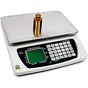 6.6 LB x 0.0002 LB / 3 KG x 0.1 Gram Large (13 x 9 Inch Tray) Counting Scale Coin Parts Inventory Paper Piece