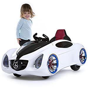 Lil-Rider-Pre-Assembled-12V-Battery-Operated-White-Sports-Car-with-Remote-Control