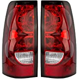 Driver and Passenger Taillights Tail Lamps Replacement for Chevrolet Pickup Truck 19169004 19169005