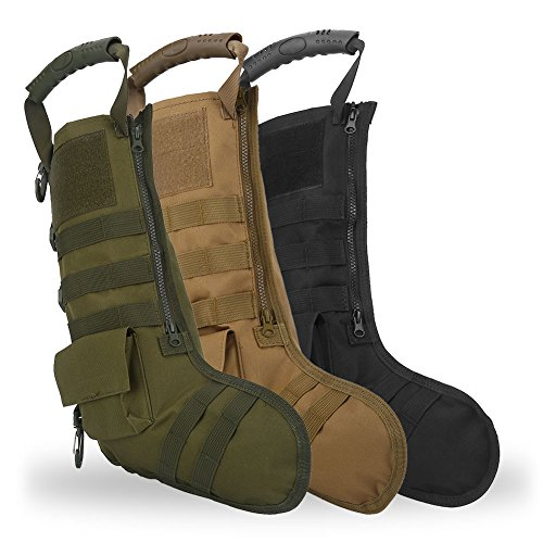 Tbest Chaussettes de Cadeau de Noël de Sac Tactique de Bas de Noël, Sac de Rangement en Nylon d'accessoires Militaires… 1