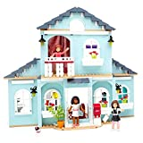 Buildable 2-In-1 Two-Story Dollhouses Play Sets