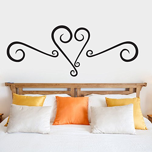 Heart Faux Headboard Vinyl Wall Words Decal Sticker ()