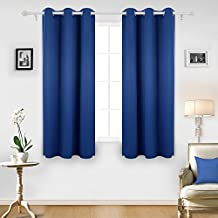 Deconovo Room Darkening Thermal Insulated Grommet Royal Blue Blackout Curtain Panel For Living Room, 42x63 Inch, 1 Panel