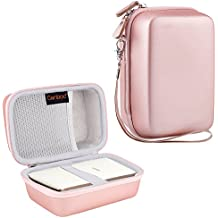 Canboc Shockproof Carrying Case for Fujifilm INSTAX SHARE SP-2 Smart Phone Printer | Storage Travel Case Bag Portable Fits USB Cable & Battery Charger & Mini Instant Film, Rose Gold