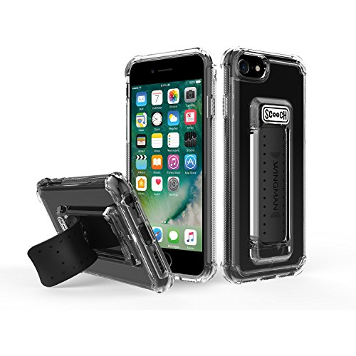 Scooch Wingman 5-in-1 Case for iPhone 8 (Also fits 7, 6S, 6) (Clear)