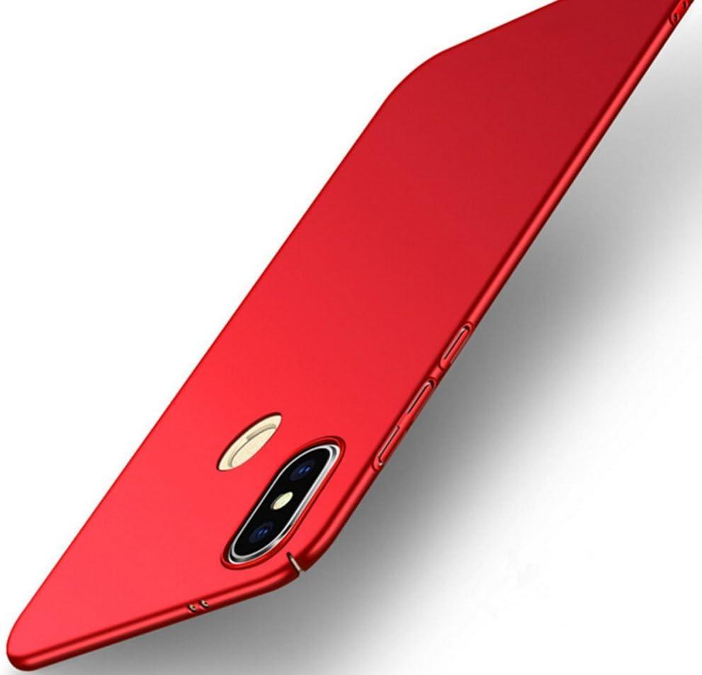 SPAK Xiaomi Mi 6X,Xiaomi Redmi Note 5 Pro Custodia,Ultra Slim PC Protettiva Case Cover Custodia per Xiaomi Mi 6X,Xiaomi Redmi Note 5 Pro (Rosso)