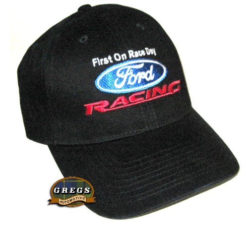 Ford Racing Hat Black (Racing Decal Included)