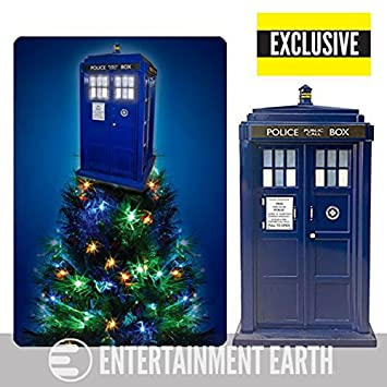 Doctor Who TARDIS Light-Up Holiday Tree Topper - Exclusive - Amazon.com: Doctor Who TARDIS Light-Up Holiday Tree Topper