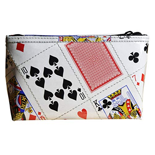 Small makeup case made of real playing cards PRIME cosmetic organizer pouch las vegas play card gifts for magician magic tricks bag purse products items poker bridge solitaire addicts fan from cute