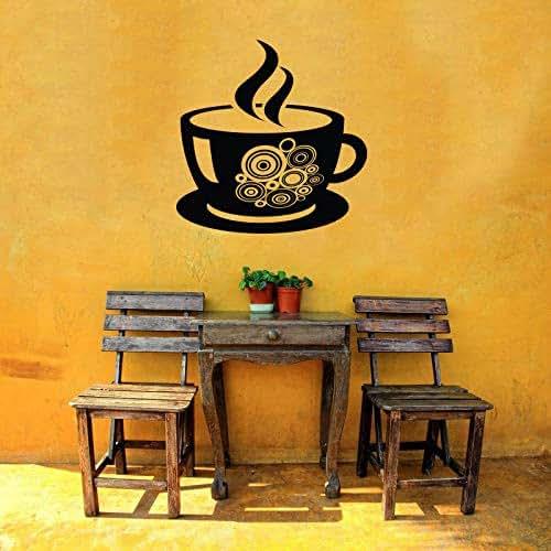 Coffee Kitchen Curtains Amazon Com: Amazon.com: Vinyl Sticker Coffee Tea Cup Hot Beverage Restaurant Cafe Coffee House Kitchen Logo