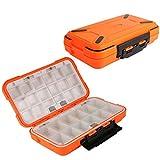 Goture Plastic Fishing Tackle Box Lure Swivel Hook Bait Kit Large Storage