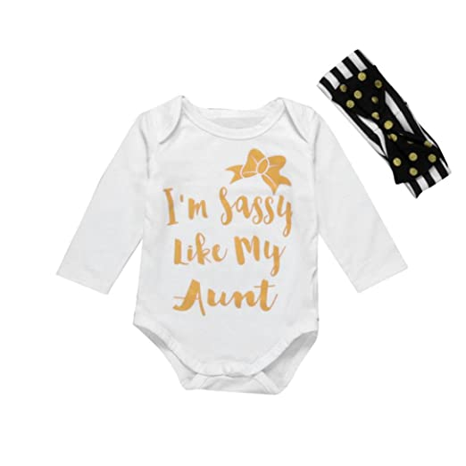 f46c9d3f4cbd Sagton  quot  i m sassy like my aunt quot  Kids Baby Boy Girl Clothes